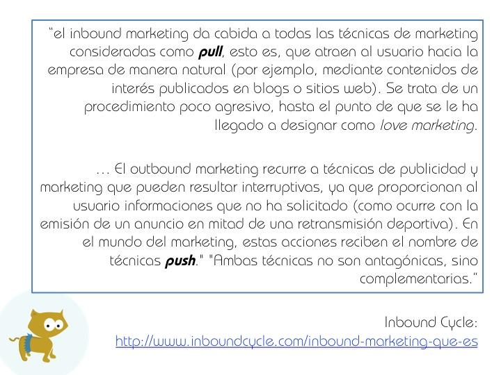 Inbound márketing según Inbound cycle