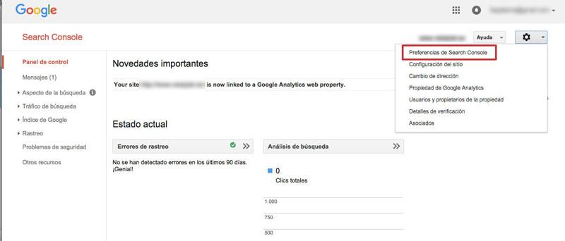 notificaciones de Google en Search Console