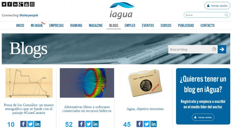 Imagen de la web de iagua