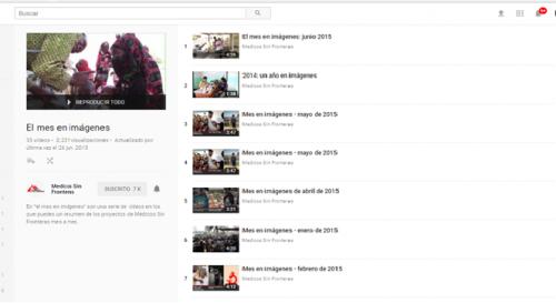 Perfil youtube Médicos sin Fronteras-El mes en imágenes