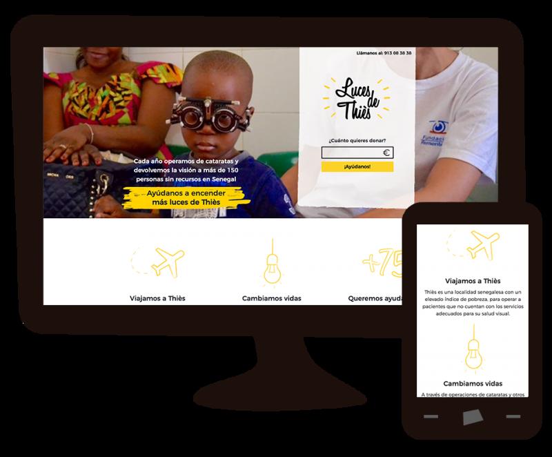 web de la campaña en la que aparece Un niño al que le revisan la vista