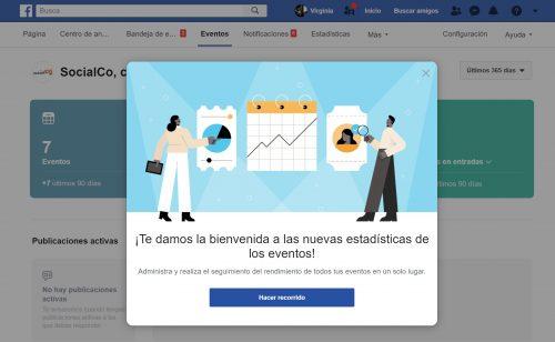 novedades redes sociales Facebook eventos