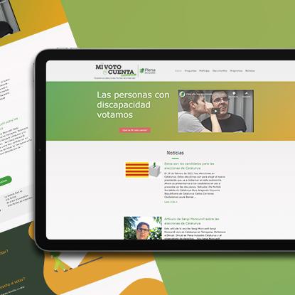 Desarrollo web para Plena Inclusión, Una web accesible para facilitar el derecho al voto de las personas con discapacidad intelectual.