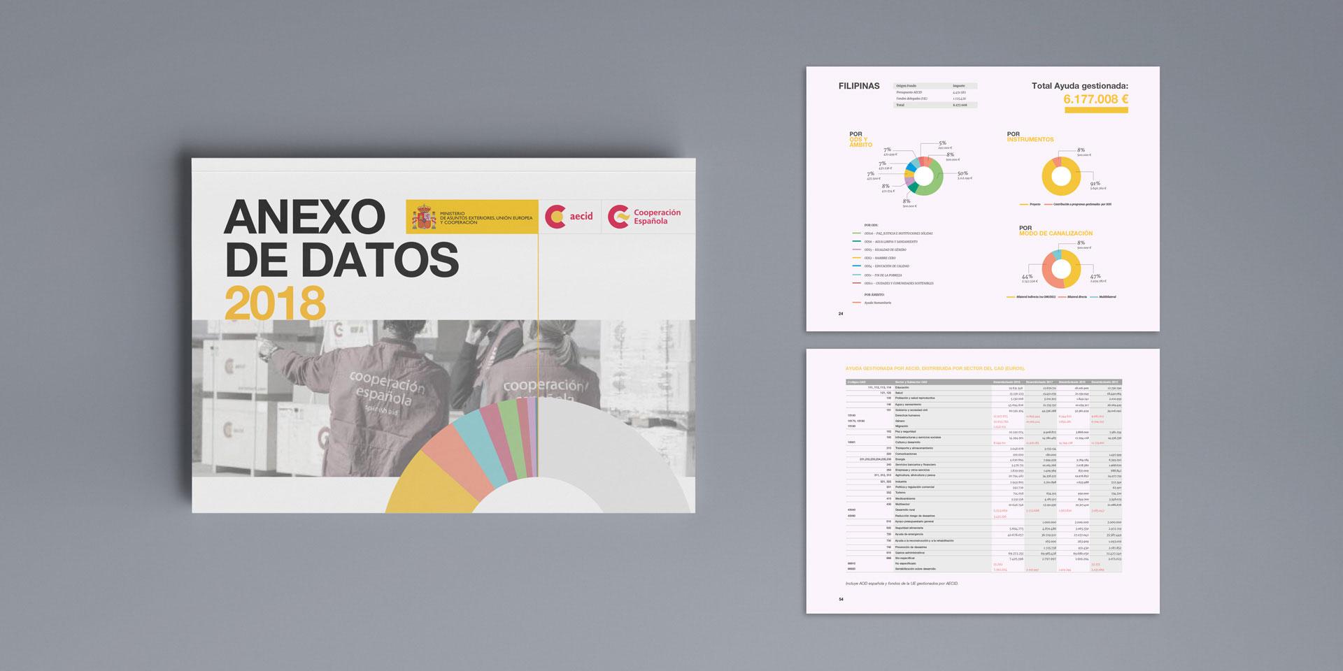 Desarrollo Web Memoria la Agencia Española de Cooperación Internacional.